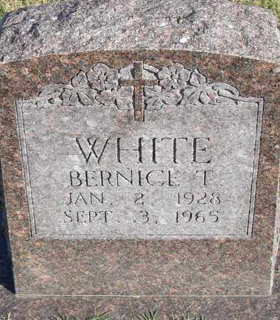 WHITE, BERNICE T - Pulaski County, Arkansas | BERNICE T WHITE - Arkansas Gravestone Photos