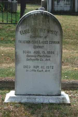 CONWAY WHITE, ELISE - Pulaski County, Arkansas | ELISE CONWAY WHITE - Arkansas Gravestone Photos