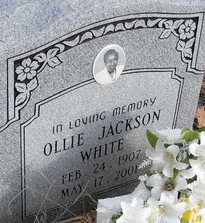 JACKSON WHITE, OLLIE - Pulaski County, Arkansas | OLLIE JACKSON WHITE - Arkansas Gravestone Photos