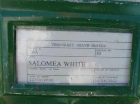 WHITE, SALOMEA - Pulaski County, Arkansas | SALOMEA WHITE - Arkansas Gravestone Photos