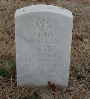 WHITE, SR  (VETERAN WWI), ANDY - Pulaski County, Arkansas | ANDY WHITE, SR  (VETERAN WWI) - Arkansas Gravestone Photos