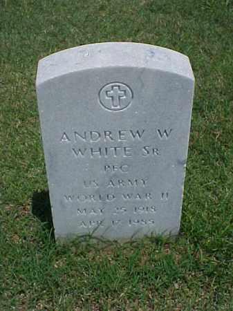 WHITE, SR (VETERAN WWII), ANDREW WALTER - Pulaski County, Arkansas | ANDREW WALTER WHITE, SR (VETERAN WWII) - Arkansas Gravestone Photos