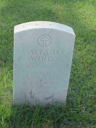 WHITE (VETERAN 2 WARS), ALEX D - Pulaski County, Arkansas | ALEX D WHITE (VETERAN 2 WARS) - Arkansas Gravestone Photos