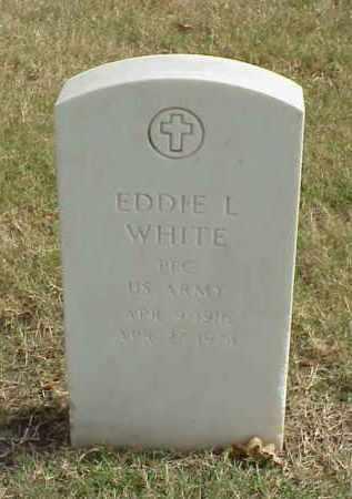 WHITE (VETERAN), EDDIE L - Pulaski County, Arkansas   EDDIE L WHITE (VETERAN) - Arkansas Gravestone Photos
