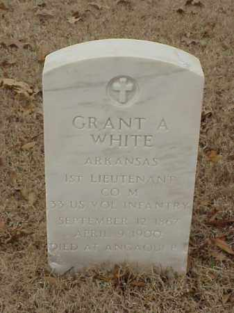 WHITE (VETERAN), GRANT A - Pulaski County, Arkansas | GRANT A WHITE (VETERAN) - Arkansas Gravestone Photos