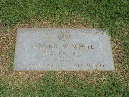 WHITE (VETERAN KOR), LONNY W - Pulaski County, Arkansas | LONNY W WHITE (VETERAN KOR) - Arkansas Gravestone Photos