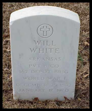 WHITE (VETERAN WWI), WILL - Pulaski County, Arkansas | WILL WHITE (VETERAN WWI) - Arkansas Gravestone Photos
