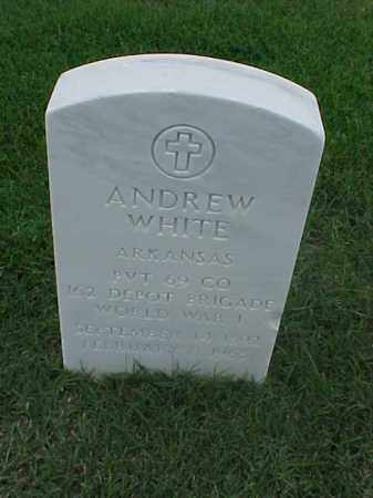 WHITE (VETERAN WWI), ANDREW - Pulaski County, Arkansas | ANDREW WHITE (VETERAN WWI) - Arkansas Gravestone Photos