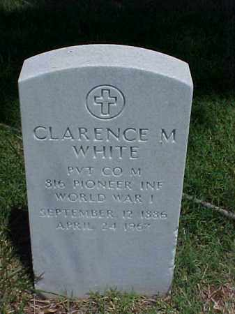 WHITE (VETERAN WWI), CLARENCE M - Pulaski County, Arkansas | CLARENCE M WHITE (VETERAN WWI) - Arkansas Gravestone Photos