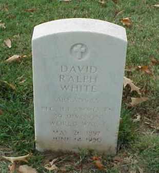 WHITE (VETERAN WWI), DAVID RALPH - Pulaski County, Arkansas | DAVID RALPH WHITE (VETERAN WWI) - Arkansas Gravestone Photos