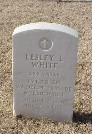 WHITE (VETERAN WWI), LESLEY L - Pulaski County, Arkansas | LESLEY L WHITE (VETERAN WWI) - Arkansas Gravestone Photos