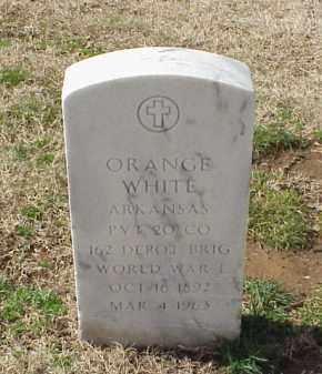 WHITE (VETERAN WWI), ORANGE - Pulaski County, Arkansas | ORANGE WHITE (VETERAN WWI) - Arkansas Gravestone Photos
