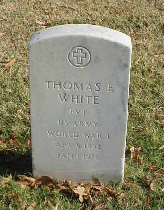 WHITE (VETERAN WWI), THOMAS E - Pulaski County, Arkansas | THOMAS E WHITE (VETERAN WWI) - Arkansas Gravestone Photos