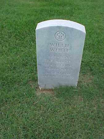 WHITE (VETERAN WWI), WILLIE - Pulaski County, Arkansas | WILLIE WHITE (VETERAN WWI) - Arkansas Gravestone Photos