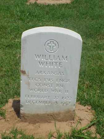 WHITE (VETERAN WWII), WILLIAM - Pulaski County, Arkansas | WILLIAM WHITE (VETERAN WWII) - Arkansas Gravestone Photos