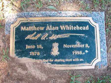 WHITEHEAD, MATTHEW ALAN - Pulaski County, Arkansas | MATTHEW ALAN WHITEHEAD - Arkansas Gravestone Photos