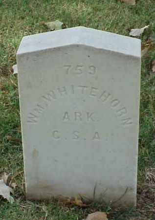 WHITEHORN (VETERAN CSA), WILLIAM - Pulaski County, Arkansas | WILLIAM WHITEHORN (VETERAN CSA) - Arkansas Gravestone Photos