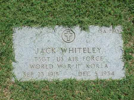 WHITELEY (VETERAN 2 WARS), JACK - Pulaski County, Arkansas | JACK WHITELEY (VETERAN 2 WARS) - Arkansas Gravestone Photos