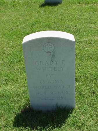 WHITELY (VETERAN WWII), GRADY F - Pulaski County, Arkansas | GRADY F WHITELY (VETERAN WWII) - Arkansas Gravestone Photos