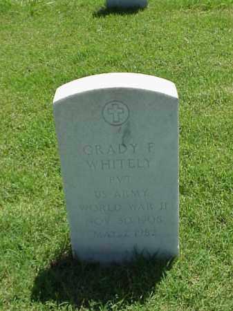 WHITELY (VETERAN WWII), GRADY F - Pulaski County, Arkansas | GRADY F WHITELY (VETERAN WWII) - Arkansas Gravestone Photos