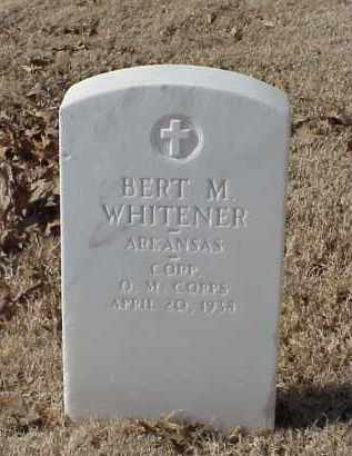 WHITENER (VETERAN WWI), BERT M - Pulaski County, Arkansas | BERT M WHITENER (VETERAN WWI) - Arkansas Gravestone Photos