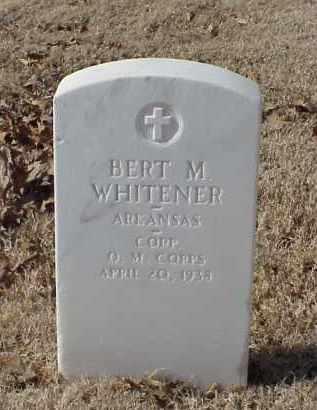 WHITENER (VETERAN WWI), BERT M - Pulaski County, Arkansas | BERT M WHITENER (VETERAN WWI) - Arkansas Gravestone Photos