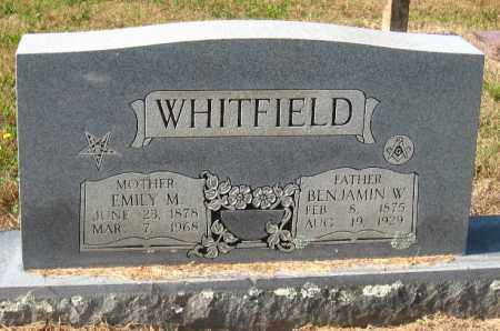 WHITFIELD, BENJAMIN W - Pulaski County, Arkansas | BENJAMIN W WHITFIELD - Arkansas Gravestone Photos