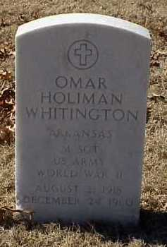 WHITINGTON  (VETERAN WWII), OMAR HOLIMAN - Pulaski County, Arkansas | OMAR HOLIMAN WHITINGTON  (VETERAN WWII) - Arkansas Gravestone Photos