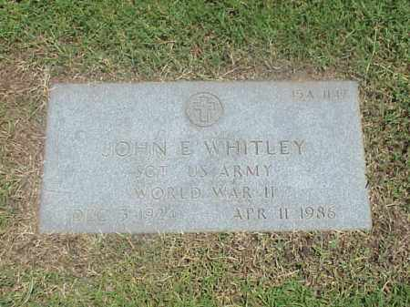 WHITLEY (VETERAN WWII), JOHN E - Pulaski County, Arkansas | JOHN E WHITLEY (VETERAN WWII) - Arkansas Gravestone Photos