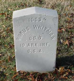 WHITMAN (VETERAN CSA), RUFUS DAWSON - Pulaski County, Arkansas | RUFUS DAWSON WHITMAN (VETERAN CSA) - Arkansas Gravestone Photos