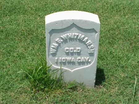 WHITMARSH (VETERAN UNION), WILLIAM F - Pulaski County, Arkansas | WILLIAM F WHITMARSH (VETERAN UNION) - Arkansas Gravestone Photos