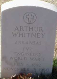 WHITNEY  (VETERAN WWI), ARTHUR - Pulaski County, Arkansas | ARTHUR WHITNEY  (VETERAN WWI) - Arkansas Gravestone Photos