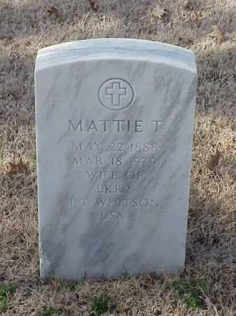 WHITSON, MATTIE T - Pulaski County, Arkansas | MATTIE T WHITSON - Arkansas Gravestone Photos