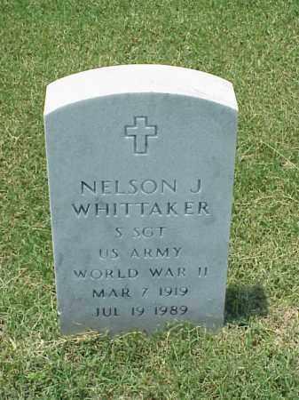 WHITTAKER (VETERAN WWII), NELSON J - Pulaski County, Arkansas | NELSON J WHITTAKER (VETERAN WWII) - Arkansas Gravestone Photos