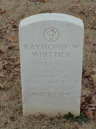 WHITTIER (VETERAN 3 WARS), RAYMOND W - Pulaski County, Arkansas | RAYMOND W WHITTIER (VETERAN 3 WARS) - Arkansas Gravestone Photos