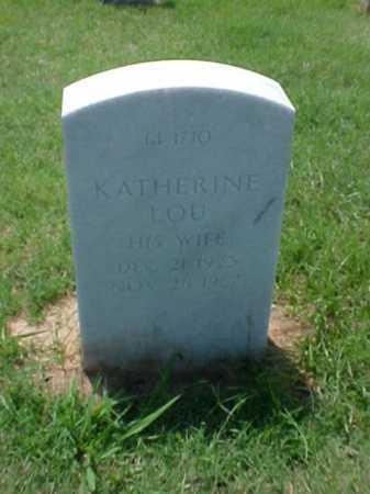 WHORTON, KATHERINE LOU - Pulaski County, Arkansas | KATHERINE LOU WHORTON - Arkansas Gravestone Photos