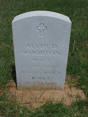 WHORTON (VETERAN 2 WARS), ALVIN D - Pulaski County, Arkansas | ALVIN D WHORTON (VETERAN 2 WARS) - Arkansas Gravestone Photos