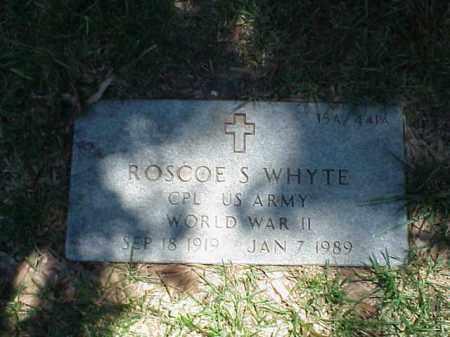 WHYTE (VETERAN WWII), ROSCOE S - Pulaski County, Arkansas | ROSCOE S WHYTE (VETERAN WWII) - Arkansas Gravestone Photos