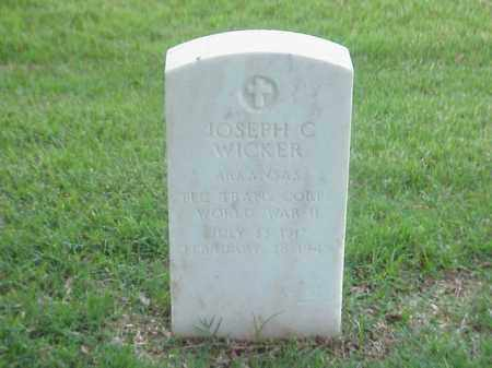 WICKER (VETERAN WWII), JOSEPH C - Pulaski County, Arkansas | JOSEPH C WICKER (VETERAN WWII) - Arkansas Gravestone Photos