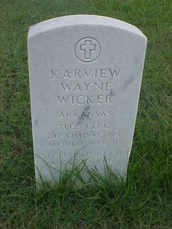 WICKER (VETERAN WWII), KARVIEW WAYNE - Pulaski County, Arkansas | KARVIEW WAYNE WICKER (VETERAN WWII) - Arkansas Gravestone Photos