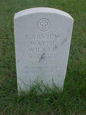 WICKER (VETERAN WWII), KARVIEW WAYNE - Pulaski County, Arkansas | KARVIEW WAYNE WICKER (VETERAN WWII) - Arkansas Gravestone Photos
