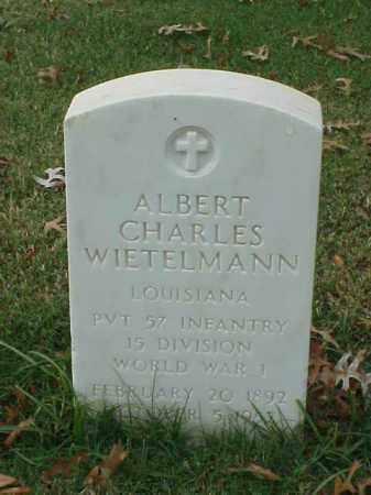 WIETELMANN (VETERAN WWI), ALBERT CHARLES - Pulaski County, Arkansas | ALBERT CHARLES WIETELMANN (VETERAN WWI) - Arkansas Gravestone Photos