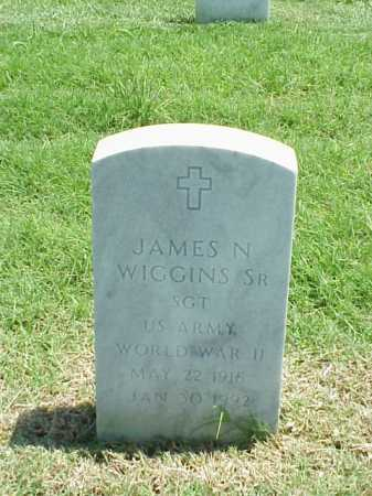 WIGGINS, SR (VETERAN WWII), JAMES N - Pulaski County, Arkansas | JAMES N WIGGINS, SR (VETERAN WWII) - Arkansas Gravestone Photos