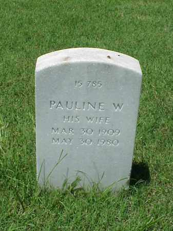 WILDER, PAULINE W - Pulaski County, Arkansas | PAULINE W WILDER - Arkansas Gravestone Photos