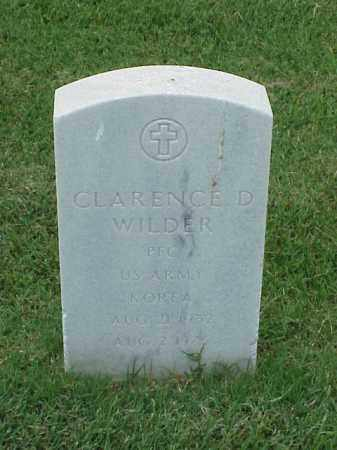 WILDER (VETERAN KOR), CLARENCE D - Pulaski County, Arkansas | CLARENCE D WILDER (VETERAN KOR) - Arkansas Gravestone Photos