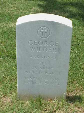 WILDER (VETERAN WWII), GEORGE - Pulaski County, Arkansas | GEORGE WILDER (VETERAN WWII) - Arkansas Gravestone Photos