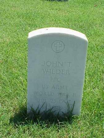 WILDER (VETERAN WWII), JOHN T - Pulaski County, Arkansas | JOHN T WILDER (VETERAN WWII) - Arkansas Gravestone Photos
