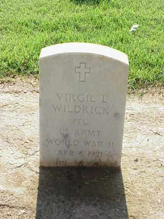 WILDRICK (VETERAN WWII), VIRGIL L - Pulaski County, Arkansas | VIRGIL L WILDRICK (VETERAN WWII) - Arkansas Gravestone Photos