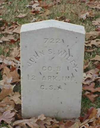 WILEY (VETERAN CSA), JOHN S - Pulaski County, Arkansas | JOHN S WILEY (VETERAN CSA) - Arkansas Gravestone Photos