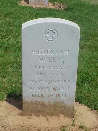 WILEY (VETERAN WWI), HEZEKIAH - Pulaski County, Arkansas | HEZEKIAH WILEY (VETERAN WWI) - Arkansas Gravestone Photos